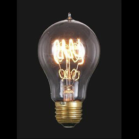 Vintage Style NEW Edison Base Quad Loop Filament Light Bulb 40 Watts