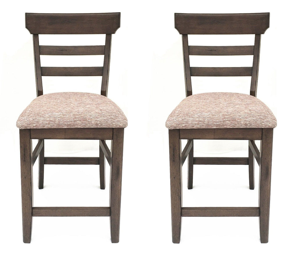 Mastercraft GS TWO (2) Cimarron Canyon Ladder Back Counter Chairs CC108F24