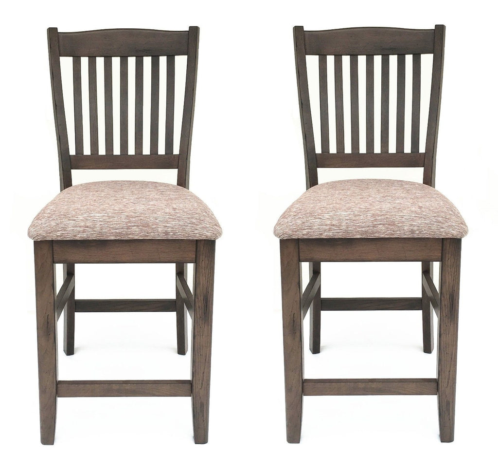 Mastercraft GS TWO (2) Cimarron Canyon Slat Back Counter Chairs CC107F24