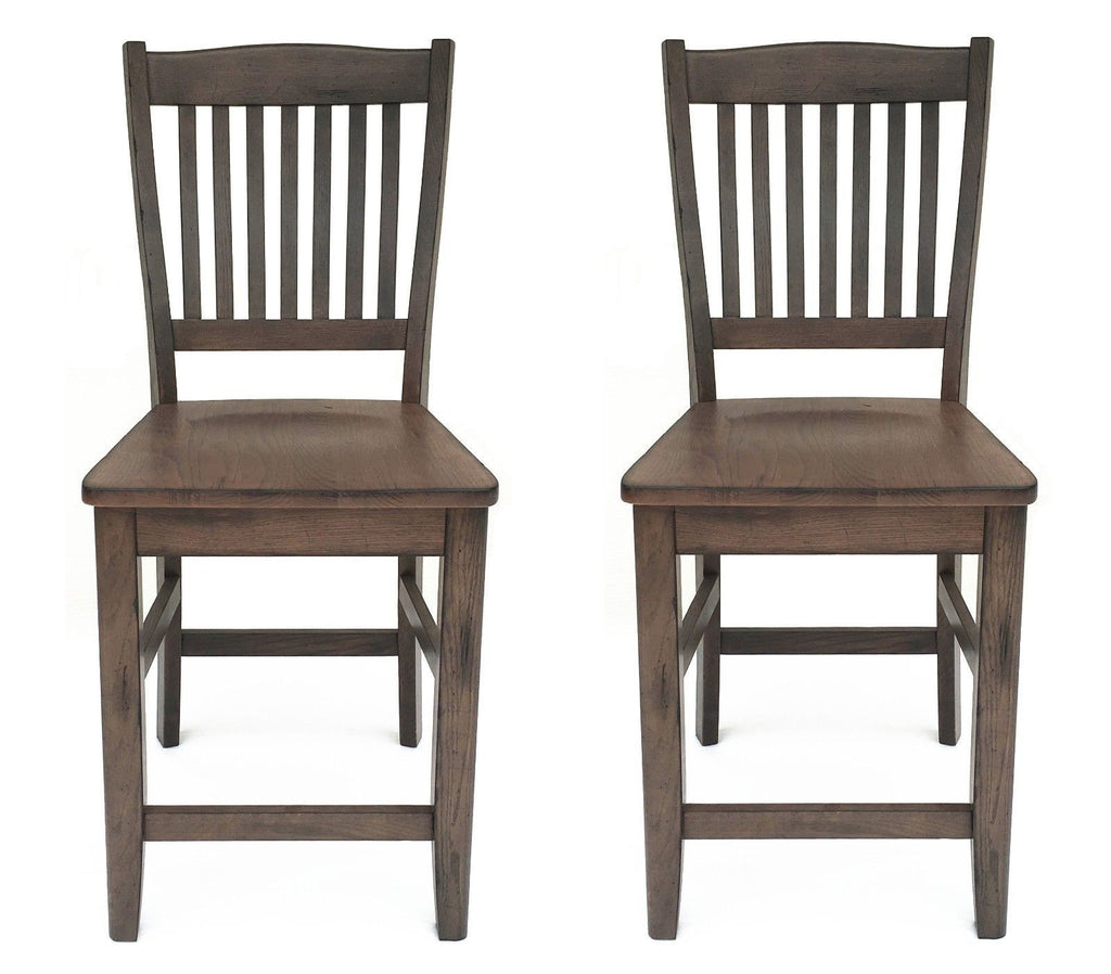Mastercraft GS TWO (2) Cimarron Canyon Slat Back Counter Chairs CC107W24