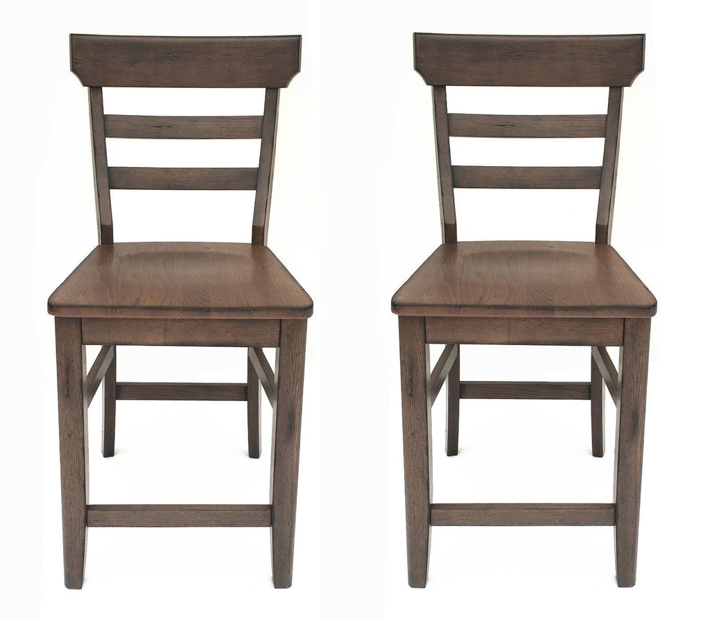 Mastercraft GS TWO (2) Cimarron Canyon Ladder Back Counter Chairs CC108W24