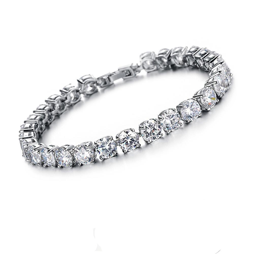 rhodium bangles bracelets bracelet beautiful plated cubic zirconia