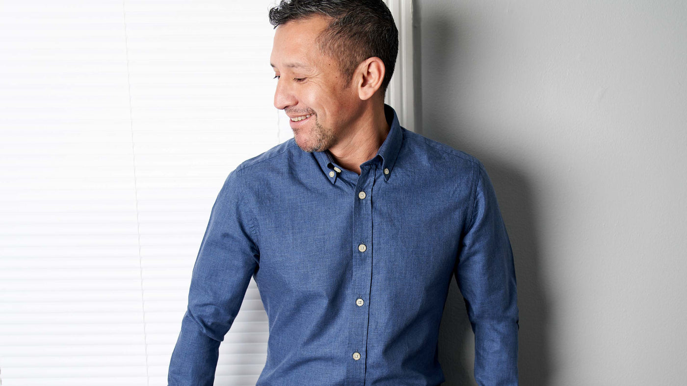 Heather Denim Blue Everyday Shirt