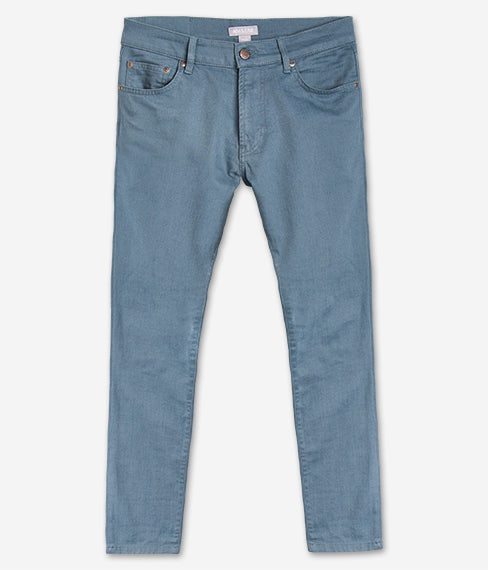 Steel Blue 5-Pocket Twill