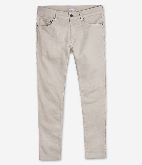 Pebble Grey 5-Pocket Twill