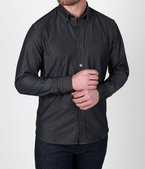 Black Chambray Spring Shirt