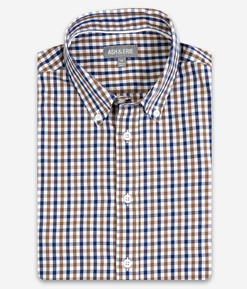 Caramel Blue Gingham Shirt