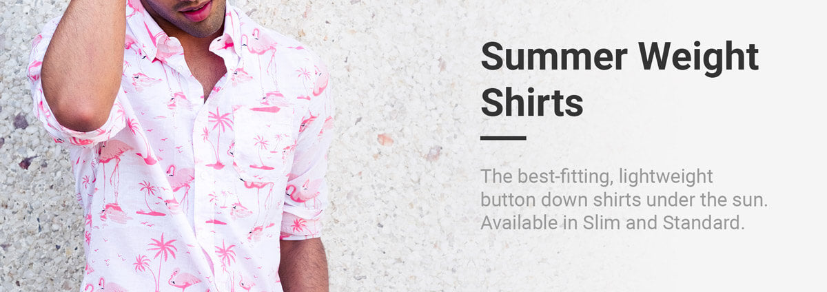 The best-fitting, lightweight button down shirts under the sun. Available in Slim and Standard fits.