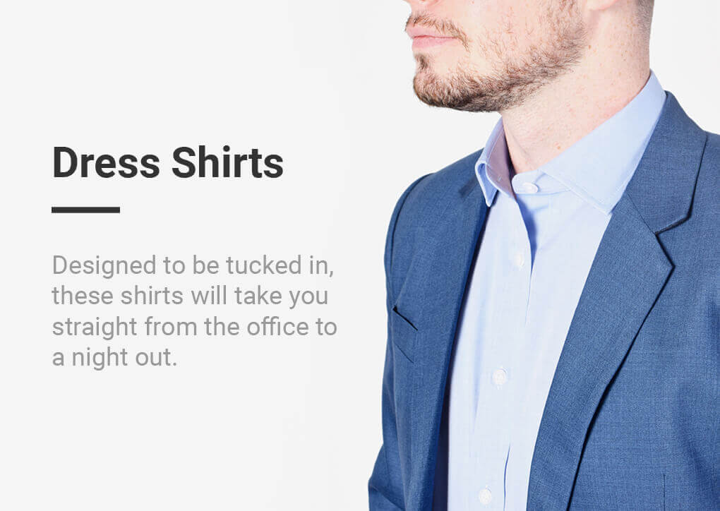 Designed to be tucked in, these shirts will take you straight from the office to a night out.