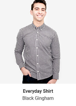 Everyday Shirt - Black Gingham