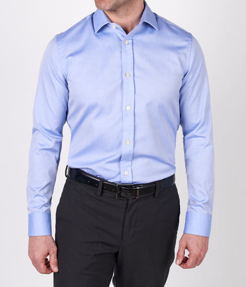 Textured Blue Dress Shirt