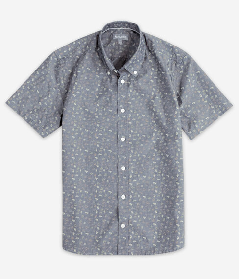 Faded Leaves Short Sleeve Everyday Shirt