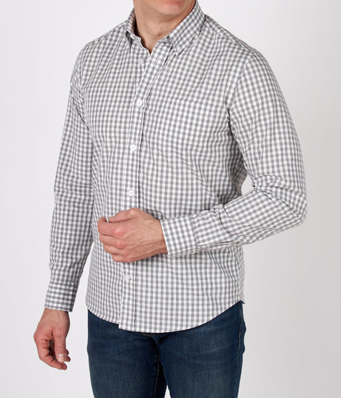 Grey Gingham Spring Shirt