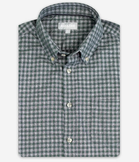 Forest Grey Gingham Fall Shirt