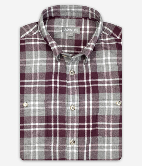 Merlot Tarton Flannel Everyday Shirt