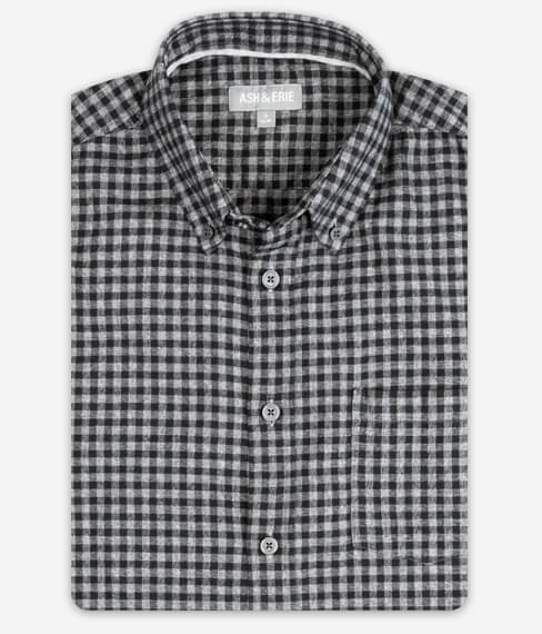 Midnight Grey Gingham Fall Shirt