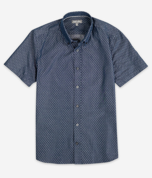 Pale Blue Dots Short Sleeve Everyday Shirt