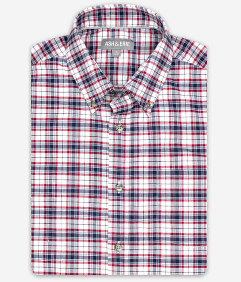 Red Union Plaid Fall Shirt