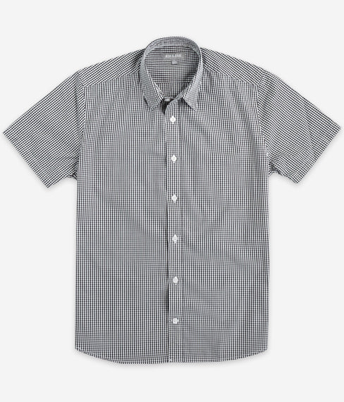 Black Gingham Short Sleeve Everyday Shirt
