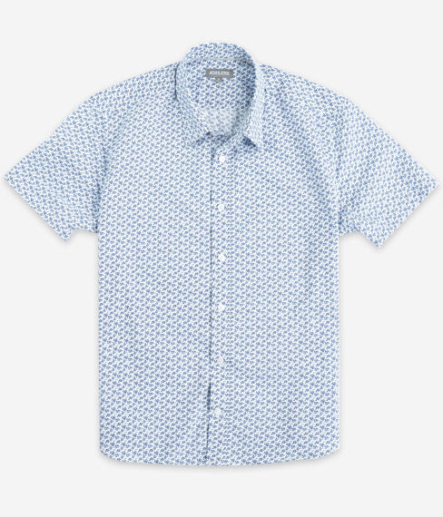 Dutch Blue Floral Short Sleeve Everyday Shirt