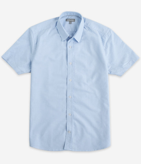 Blue Oxford Short Sleeve Everyday Shirt