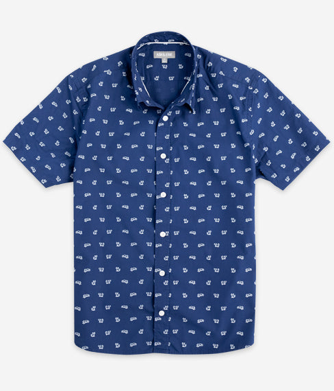 Navy Alley Cat Short Sleeve Everyday Shirt