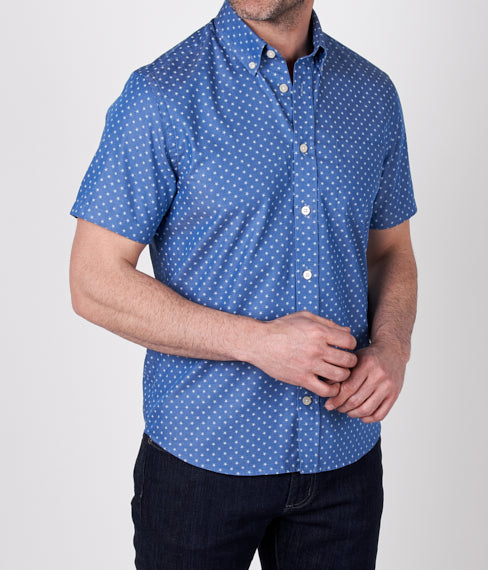 Blue Stars Short Sleeve Shirt