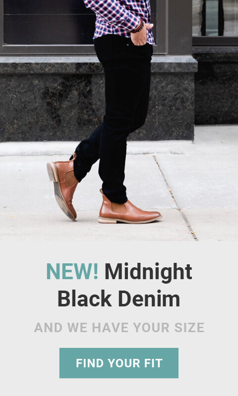 New! Midnight Black Denim. And we have your size! Made for men of great heights, shorter guy clothes. Shop now. As seen on Shark Tank!