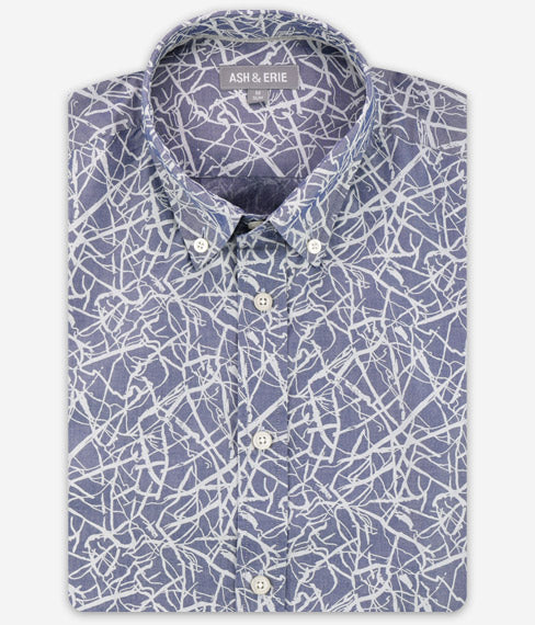 Abstract Indigo Shirt