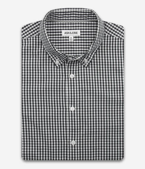 Black Gingham Everyday Shirt