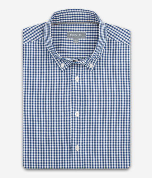 Blue Gingham Everyday Shirt
