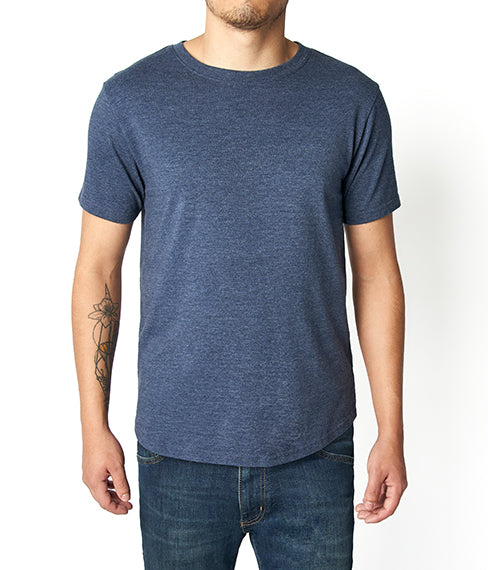 Heather Blue Crew Neck Tee