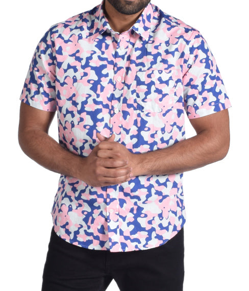 Bubblegum Camo Short Sleeve Shirt