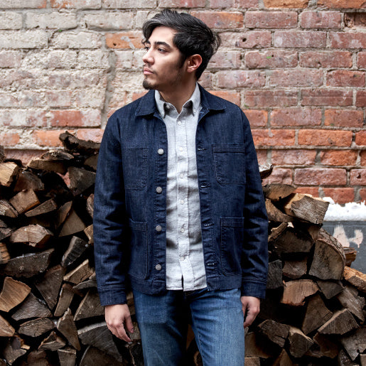 Denim Chore Jacket being worn by Armando.
