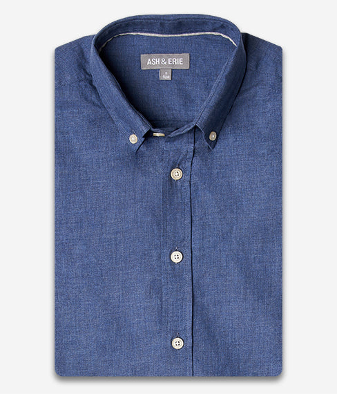 Heather Denim Blue Shirt