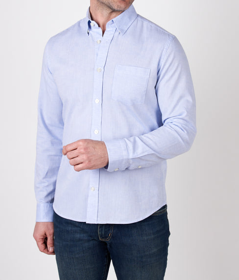 Faded Blue Linen Spring Shirt