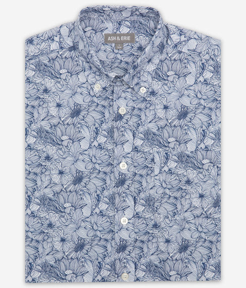 Floral Woodblock Shirt