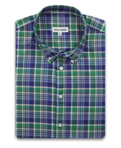 Green Trail Plaid Everyday Shirt