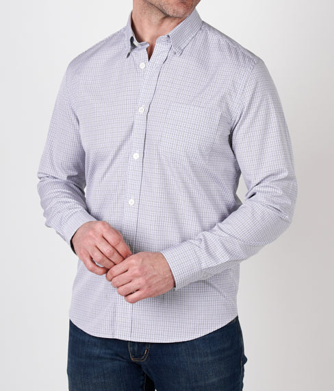 Grey Tattersall Spring Shirt