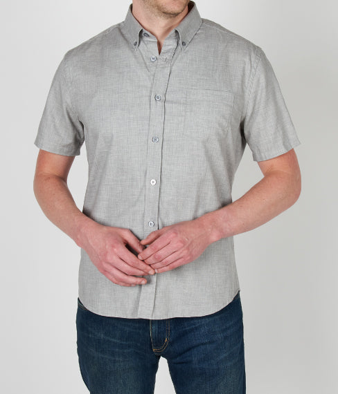 Heather Ash Grey Short Sleeve Shirt