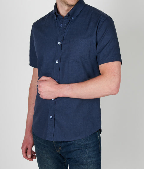 Heather Blue Ink Short Sleeve Shirt