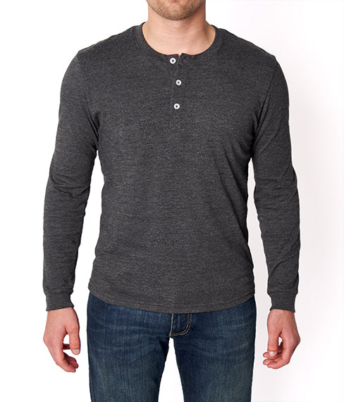 Heather Charcoal Henley