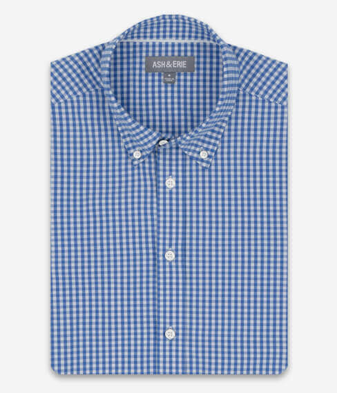 Light Blue Gingham Everyday Shirt