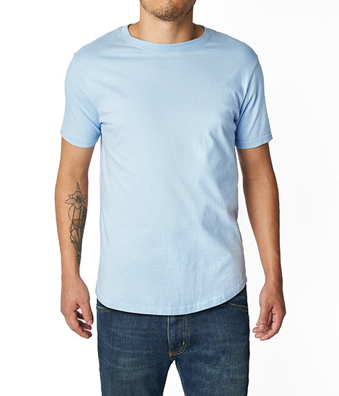 Heather Light Blue Tee