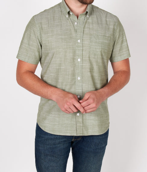 Muted Green Short Sleeve Shirt