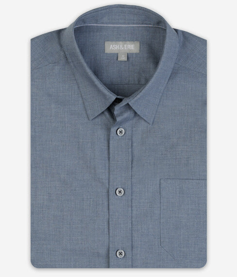 Muted Navy Wrinkle Free Everyday Shirt