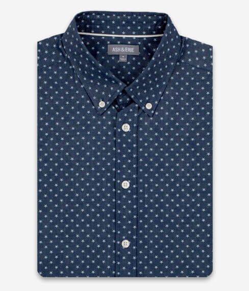 Navy Blue Stars Everyday Shirt