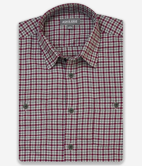Raspberry Windowpane Shirt