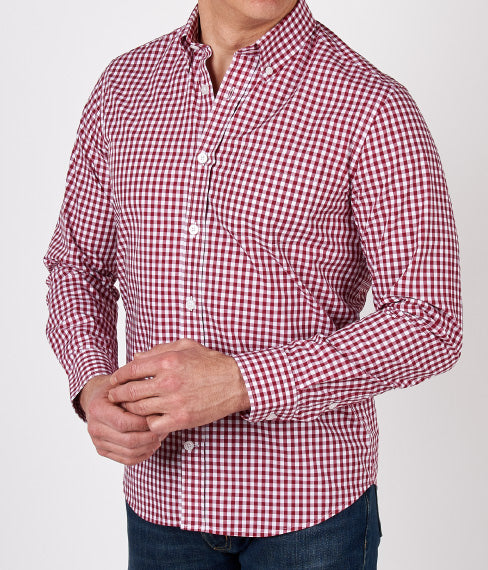 Red Gingham Spring Shirt
