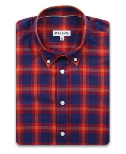 Red Trail Plaid Everyday Shirt
